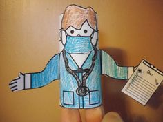 Fun Learning Printables for Kids @ http://www.makinglearningfun.com/themepages/DoctorTPtubePuppet.htm