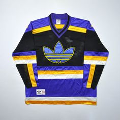 Rare Vintage 80s 90s ADIDAS Big Logo Multicolour Streetwear Hip Hop Mash Up Jersey / Retro ADIDAS Old School Jumper Pullover Jersey Hip Hop Fashion, Urban Fashion, 90s Fashion, Fashion Outfits, Vintage Sweaters, Vintage Shirts, Vintage Outfits, Vintage Jerseys, Urban Outfits
