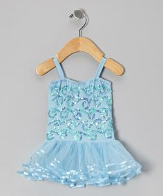Take a look at this Light Blue Chloe Skirted Leotard - Infant, Toddler & Girls by Fairy Dreams on #zulily today!