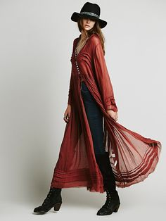 Free People FP One Shirred Buttondown Maxi at Free People Clothing Boutique
