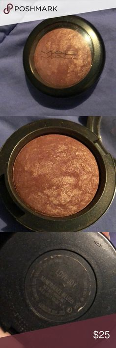 """Mac love joy 💕💗 blush MAC Love Joy Mineralize Blush ($27.00 for 0.10 oz.) is described as a """"warm mid-tone brown with gold pearl."""" It's a muted, medium-dark brown with subtle reddish tones and soft, gold shimmer. MAC Cosmetics Makeup Blush"""