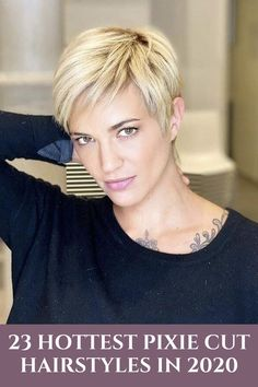 A pixie cut is about the deepest plunge you can take when it comes to a short haircut as a female. Cutting your hair into a pixie is undoubtedly terrifying. You no longer have the option. Cool Short Hairstyles, Pixie Hairstyles, Short Hairstyles For Women, Fashion Hairstyles, Hairstyle Men, Formal Hairstyles, Weave Hairstyles, Wedding Hairstyles, Shaggy Haircuts