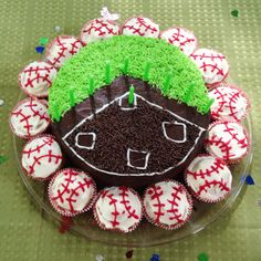 Baseball cake. 10th birthday party.