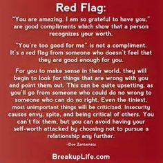 Red flag narcissistic behaviors