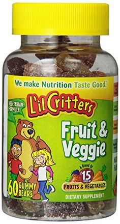 Lil Critters Fruit  Veggie Bears Dietary Supplement Assorted Flavors 60Count Bottles Pack of 9 >>> Want to know more, click on the image. Note: It's an affiliate link to Amazon.