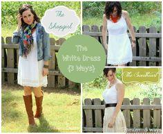 The White Dress {3 Ways}; you CAN wear white after Labor Day  Wardrobe Wednesday @Abbie @ 5days5ways