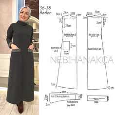 Sewing Dress Simple 44 Ideas For 2019 Sewing Dress, Dress Sewing Patterns, Sewing Clothes, Clothing Patterns, Diy Clothes, Pattern Sewing, Abaya Mode, Mode Hijab, Easy Sew Dress