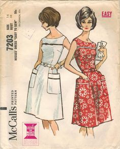 1960s McCall's 7203 UNCUT Vintage Sewing Pattern by midvalecottage