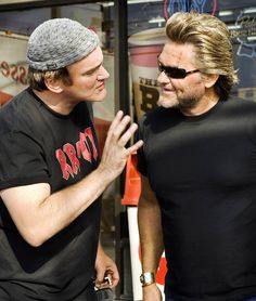 Quentin Tarantino & Kurt Russell on the set of Death Proof
