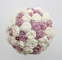 Crocheted wedding bouquet all finished!! I'm rather pleased with it! more on my blog: http://accordingtomatt.blogspot.com