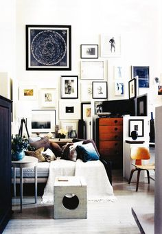 wall frames collage- i wish i could get this done in my home.