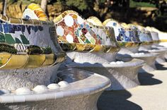 Metro: Lesseps (L3), Vallcarca (L3) Bus: 24, 92 Barcelona Bus Turístic: Park Güell // UNESCO WORLD HERITAGE // In 1900, Güell sought Gaudí's help in designing a garden city on land in the north of Barcelona. In 1922, the city council purchased the complex and tourned it into a public park. In 1984 it was declared a Unesco World Heritage Site.