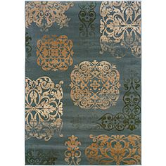 @Overstock - This rug features beautiful design in unique, fashion forward colors.  This rug will really tie your room together.   http://www.overstock.com/Home-Garden/Arabelle-Filigree-Patina-Rug-53-x-76/6727708/product.html?CID=214117 $199.99