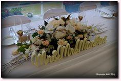 Pretty bridal table decoration