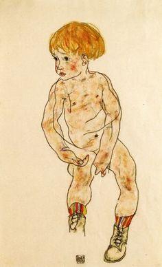 Egon Schiele - The Artist's Nephew, Anton Peschka