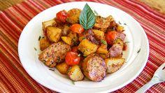 Hearty Italian Sausage  Potato Skillet | Dashrecipes.com