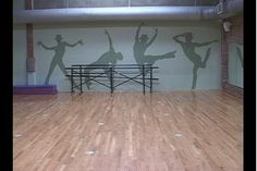 Cute pic! Would be cute in a dance studio or home dance room. Love Alvas BFM's Ballet Barres there, too! #alvasbfm #dancebarre #balletbarre #dancestudio