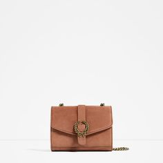 Image 2 of LEATHER CROSSBODY BAG WITH BUCKLE from Zara