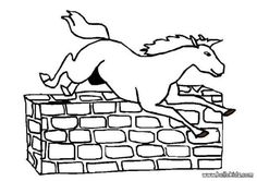 Jumping horse coloring page. With a little imagination color this Jumping horse coloring page with the most crazy colors of your choice. Farm Animal Coloring Pages, Coloring Pages For Kids, Crazy Colour, Coloring Sheets, Farm Animals, Crafts For Kids, Horses, Embroidery, Amazing