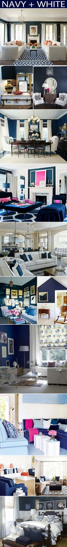 navy and white....thinking this is a little more dramatic than the lighter blue and white palette. I like it.