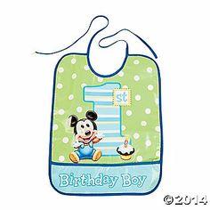 Mickey Mouse's 1st Birthday Bib