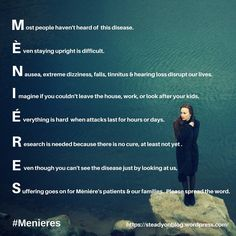 Ménière's Disease: Please spread the word for research and awareness #Menieres