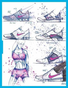 footwear sketch collection, shoe sketch collection, product sketch collection, shoe concept sketch