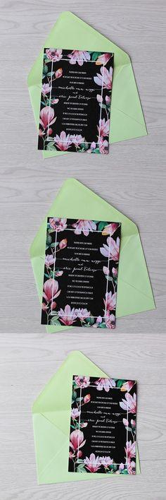 Watercolor floral wedding invitations 2df6c8f865e4