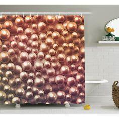 Ambesonne Jewelry Glitters Shower Curtain Set