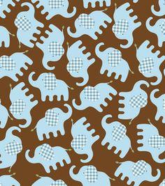 #Elephant fabric love! #flannel #baby