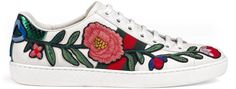 Ace embroidered low-