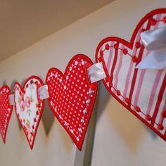 Fabric Valentine's Banner