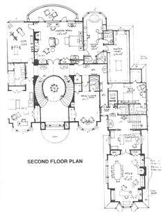 Estate home, upper level floor plan