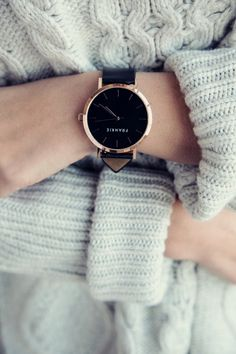 Frankie Watches | Polished Rose / Black