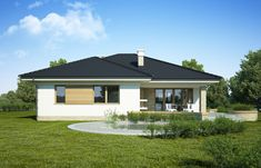 DOM.PL™ - Projekt domu FA Maja CE - DOM GC5-65 - gotowy koszt budowy Home Fashion, House Plans, Garage Doors, Shed, Outdoor Structures, Flooring, House Styles, Outdoor Decor, Home Decor