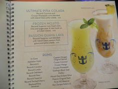 Royal Caribbean Drink Package – cruise with gambee Frozen Mojito, Frozen Drinks, Caribbean Drinks, Mojito Drink, Royal Cruise, Western Caribbean Cruise, Freedom Of The Seas, Pineapple Rum, Bahamas Cruise