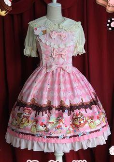 Store: MyLolitaDress Price: $106.99 Size: M Color: Pink & Light Pink