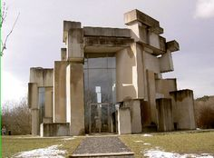"""church """"zur heiligsten Dreifaltigkeit"""", vienna, austrian sculptor and architect Fritz Wotruba"""