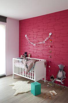 3D vlies van Arte (9440) overschilderd met kleur WE Y20 pink grace uit We are colour collectie by BOSS paints