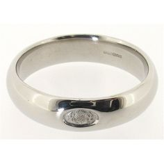 Wedding Rings Made-in Scotland | Scottish Thistle wedding ring hand made in 9ct white gold. 6mm wide ...