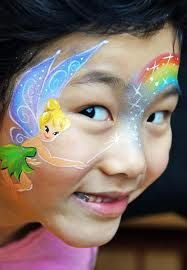 tinkerbell face paint - Google Search