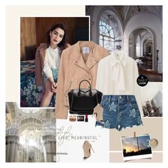 """Emilia Clarke"" by rainie-minnie ❤ liked on Polyvore featuring MANGO, Uniqlo, Givenchy, Denim & Supply by Ralph Lauren, Donald J Pliner, Rosantica and Guerlain"