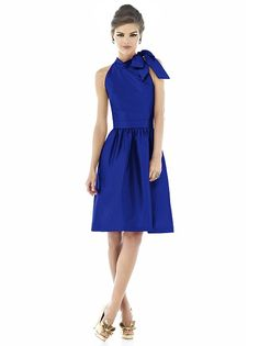 Alfred Sung Style D532 http://www.dessy.com/dresses/bridesmaid/d532/ this comes in tangerine as well
