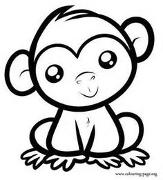 cute monkey coloring page printable animal coloring pages of - Coloring Pages Of Cute Animals