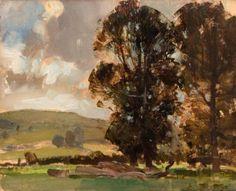 Edward Seago - Berkshire Elms