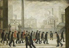 LS Lowry, Returning From Work, 1929