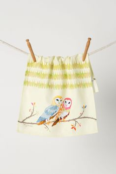"- Handmade by artist Betsy Olmstead  - Screen printed cotton flour sacks - Machine wash - 21""L, 14""W - Handmade in USA"