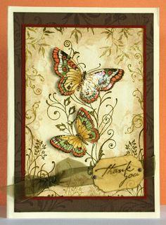 Butterfly Flourish Swirls card by Jean S (Choc.Baroque)