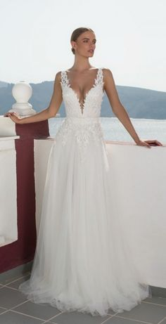 We're taking you on a journey to Greece with Julie Vino 2016 Santorini Bridal Collection filled with wedding dresses perfect for the fashion-forward bride. 2016 Wedding Dresses, Wedding Attire, Bridal Dresses, Wedding Gowns, Lace Wedding, Prom Dresses, Greek Wedding, Wedding Gallery, Bridal Collection