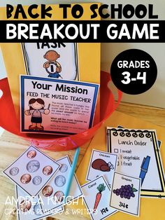 Back to School Breakout Game: A Critical Thinking Teambuilder Activity Breakout Game, Fourth Grade, Third Grade, Team Building Activities, School Lessons, Critical Thinking, Problem Solving, Lesson Plans, Back To School